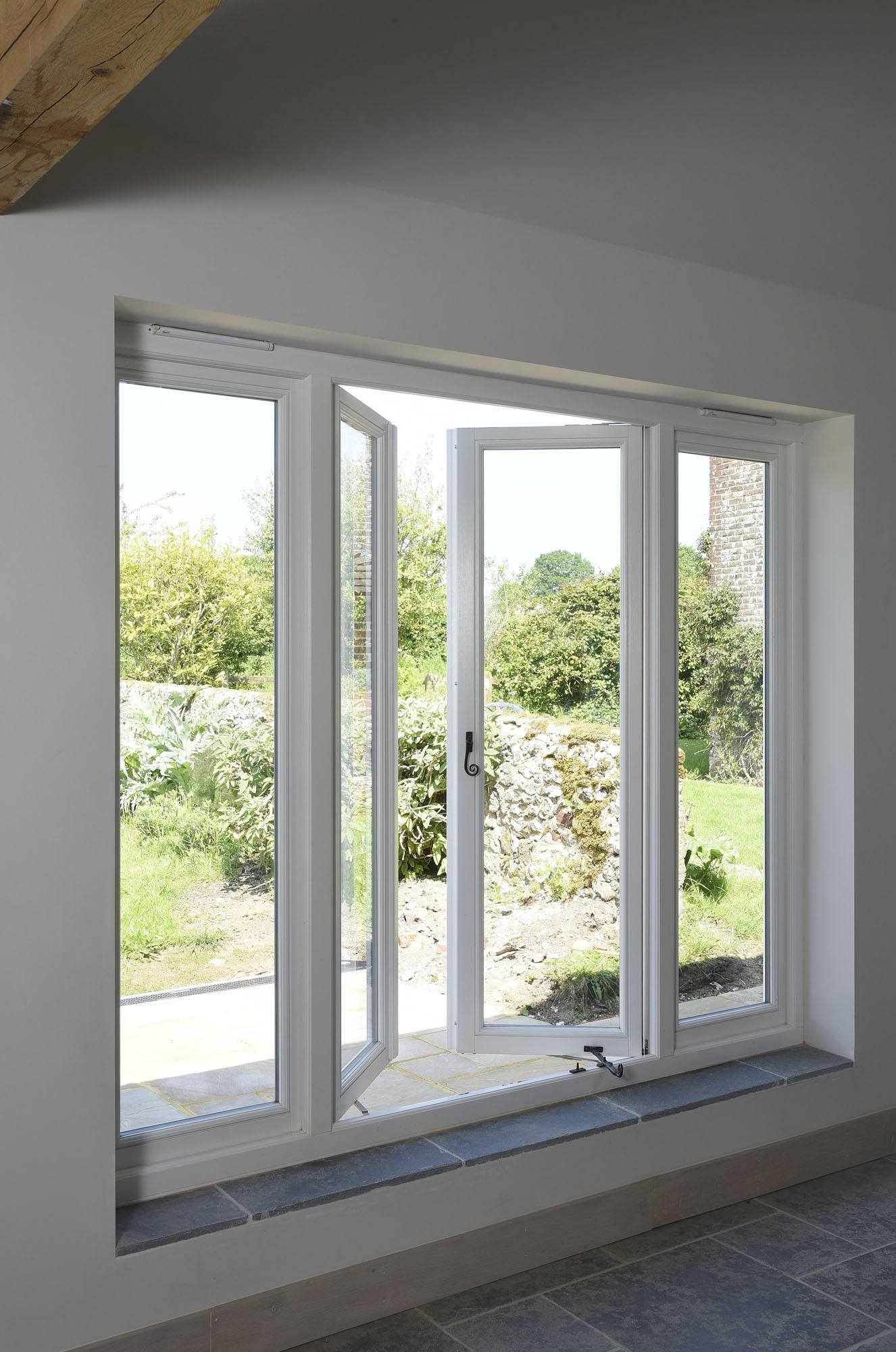 Double Awning Windows : Casement timber windows flush
