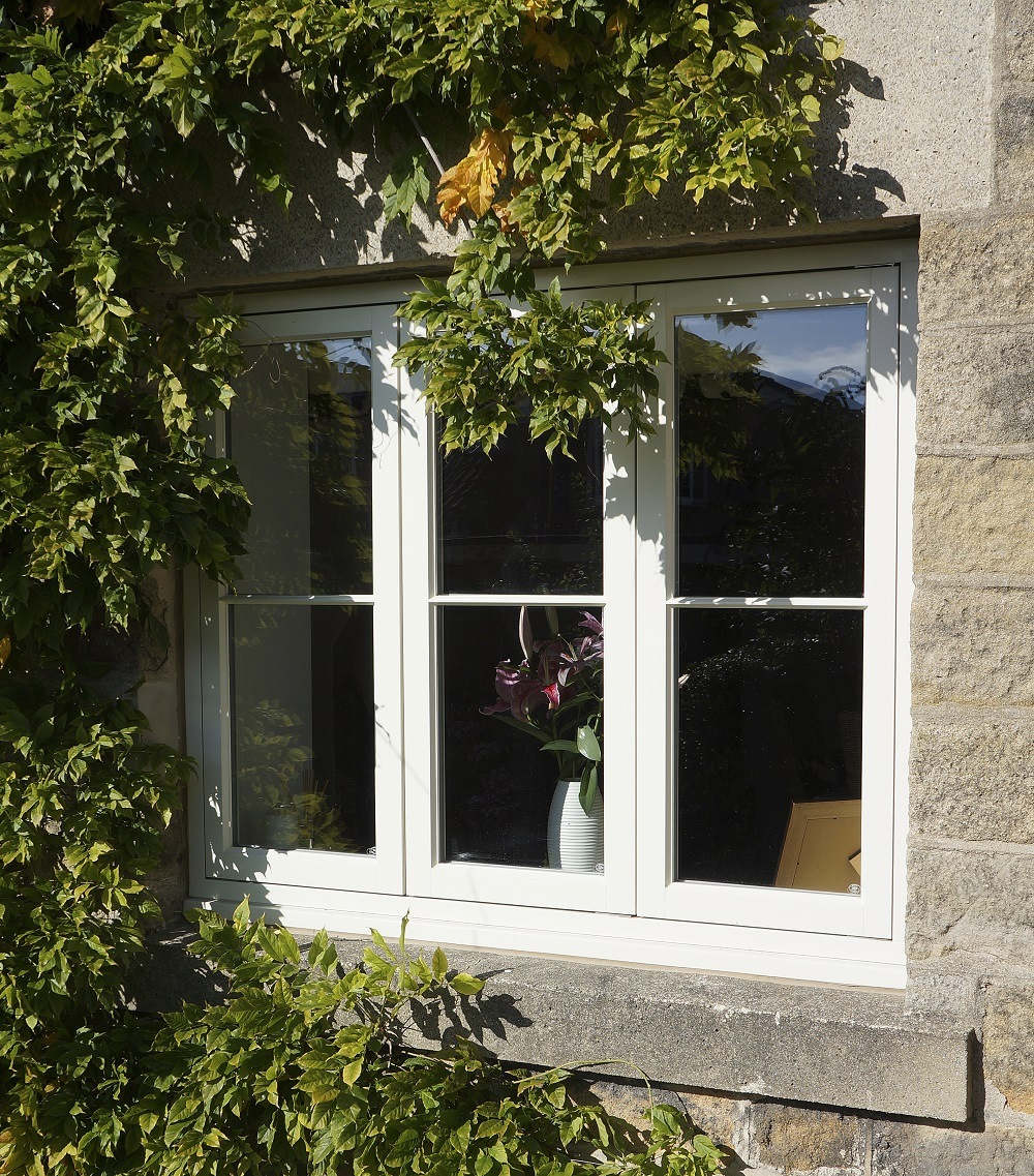 Cottage flush casements french doors rigton yorkshire for French doors without windows
