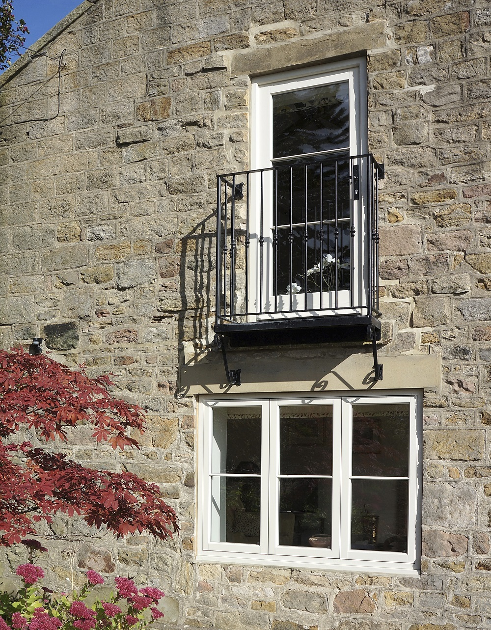 Cottage flush casements french doors rigton yorkshire for Upvc french doors yorkshire